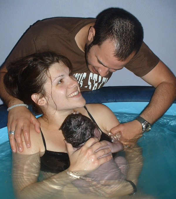Natural Water Birth With Twins
