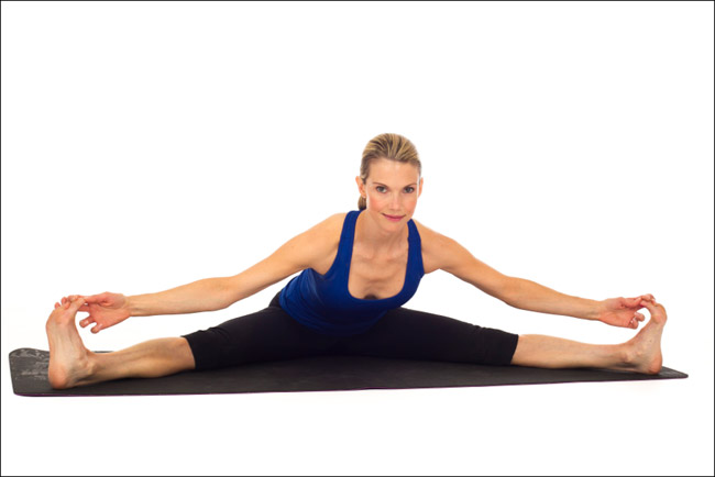 Stretching the Groin - Women Fitness