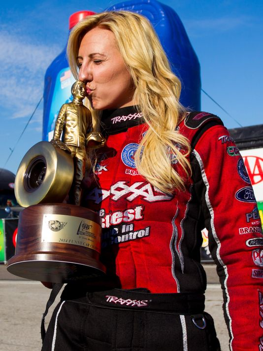 courtney force  funny car drag racer  three