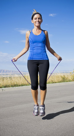 skipping to good health  women fitness